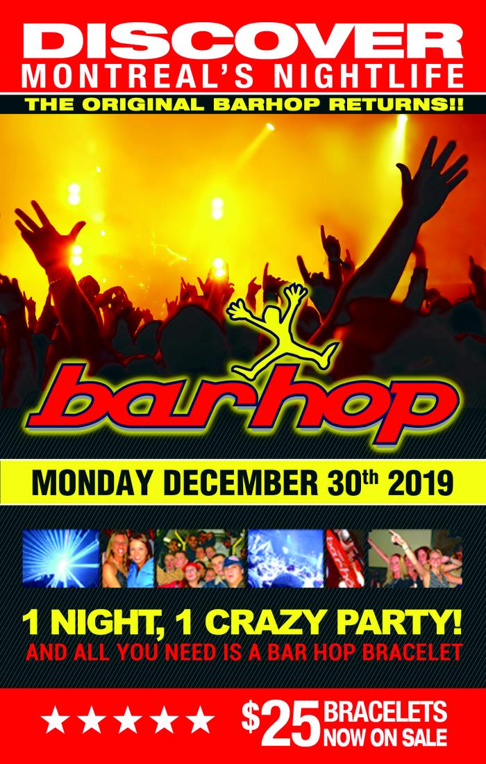 BarHop Dec 30th New Years Eve 2021 tickets in Montreal, QC